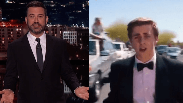 Watch Jimmy Kimmel's epic rant on 'celebrity promposals,' the ultimate hostage situation.