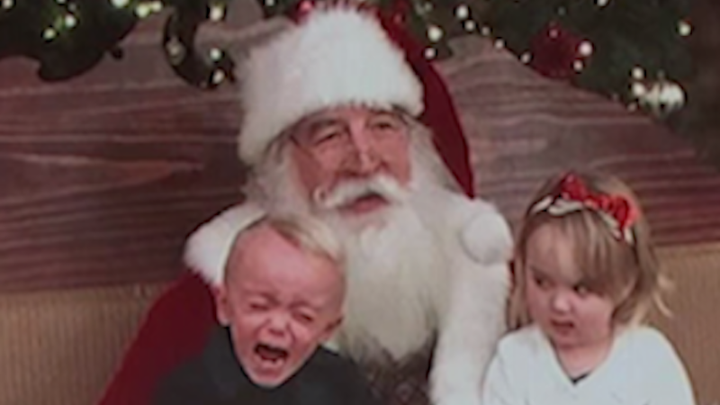 The best pics of kids getting freaked out by Santa, a bearded stranger who wants them to sit on his lap.