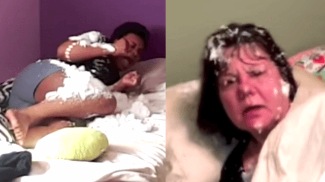 Jimmy Kimmel told his fans to throw snowballs at their loved ones in bed. It was glorious.