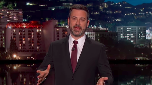Jimmy Kimmel slid a political request into an update about his son's health.