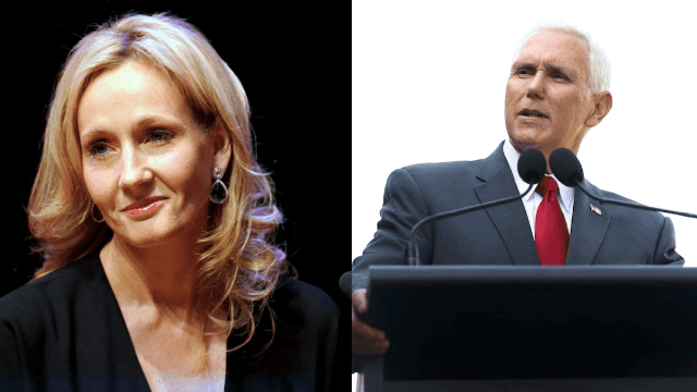 J.K. Rowling crushes Mike Pence with sarcastic tweet about climate change.