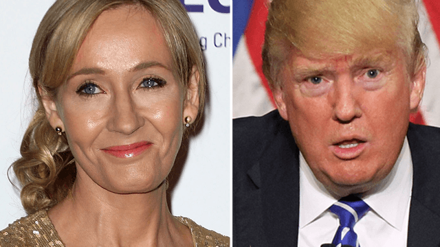j k rowling taunts trump for his weird writing style on twitter  j k rowling taunts trump for his weird writing style on twitter it s kinda her thing