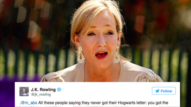 J.K. Rowling has perfect reply for fans on Twitter who want to know where their Hogwarts acceptance letter is.