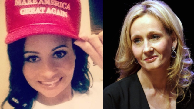 J.K. Rowling called Katrina Pierson a Death Eater after seeing one of the Trump spokeswoman's tweets.