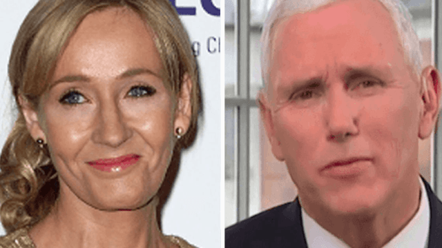 J.K. Rowling channels the Bible to strike down Mike Pence.