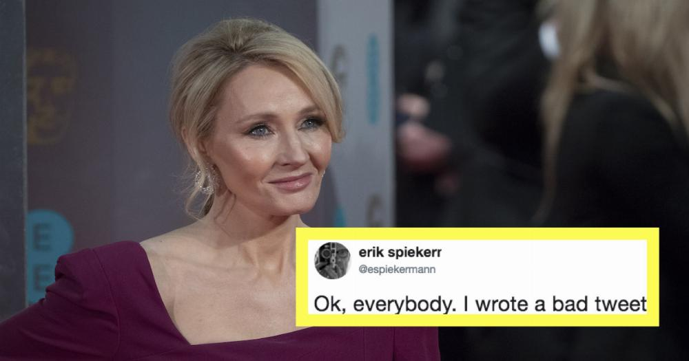 J.K. Rowling shot down the mansplainiest mansplainer to ever mansplain.