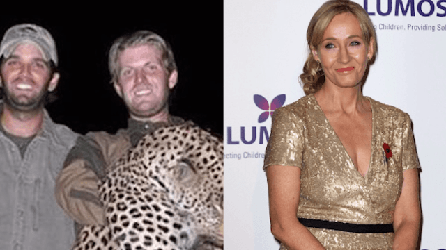 J.K. Rowling has the perfect reason why the Trump brothers wouldn't be in Slytherin.