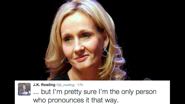 """According to troublemaker J.K. Rowling, you're pronouncing """"Voldemort"""" wrong."""