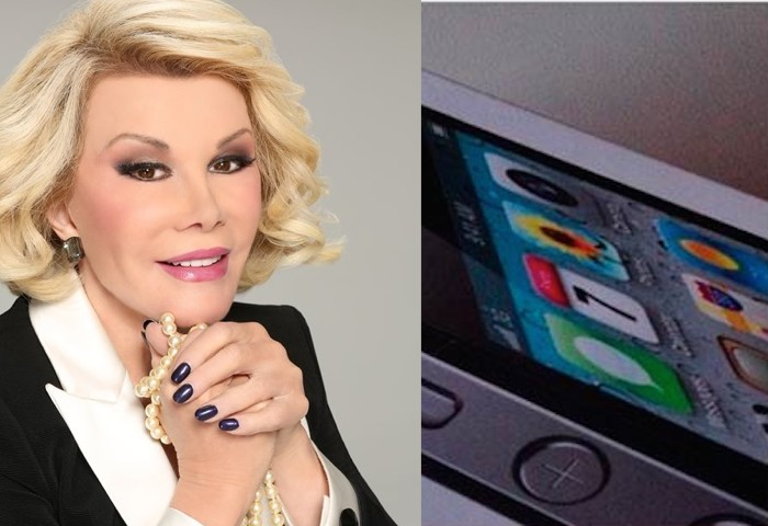 Joan Rivers may be dead, but she still endorsed the iPhone 6 on Facebook this morning.