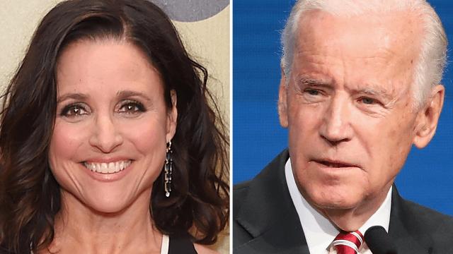 Joe Biden promises 'Veeps' always stick together in sweet tweet to Julia Louis-Dreyfus.