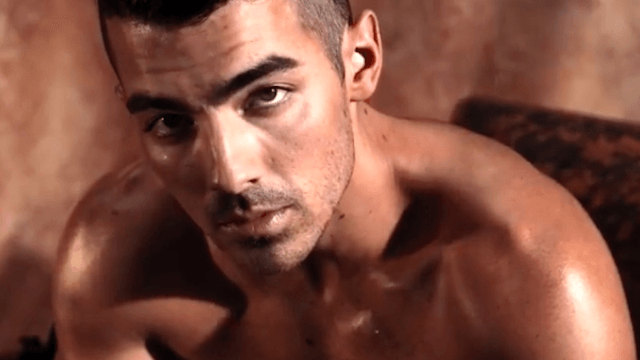 Joe Jonas stripped off his skinny jeans to become the new 'face' for Guess underwear.