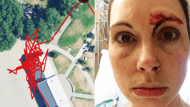 A jogger fought off an assault mid-run and her fitness tracker captured the whole thing.