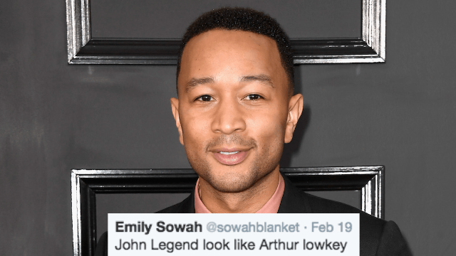 Twitter is freaking out over the realization that John Legend looks like Arthur.