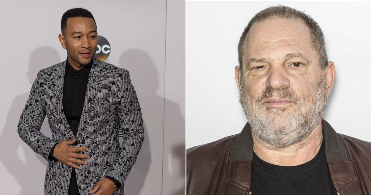 John Legend defends himself after getting dragged for a pic with Harvey Weinstein.