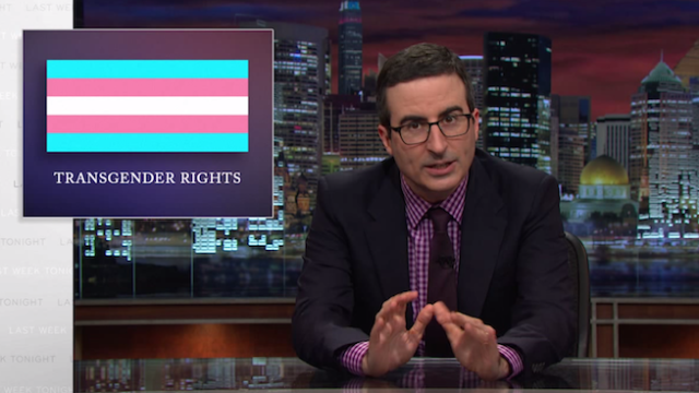 John Oliver breaks down how to not be transphobic.