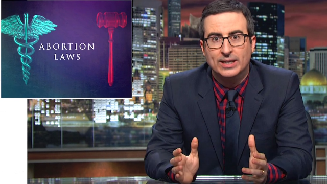 John Oliver uses a cuddly sloth in a nightcap to soften the blow of talking about abortion laws.