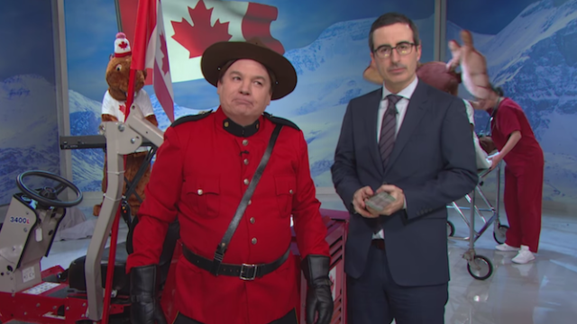 John Oliver, Mike Myers, and a moose will make you feel 'sorey' for not caring about the Canadian election.