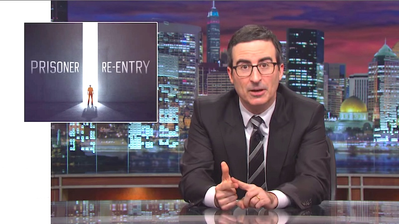 John Oliver takes on prisoner re-entry, catches ex-cons up on what they've missed.