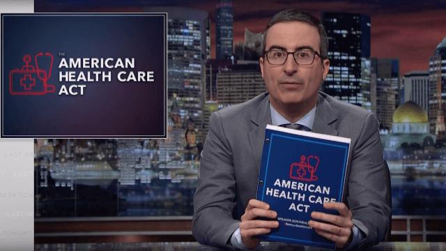John Oliver tears apart the Republican health care bill.