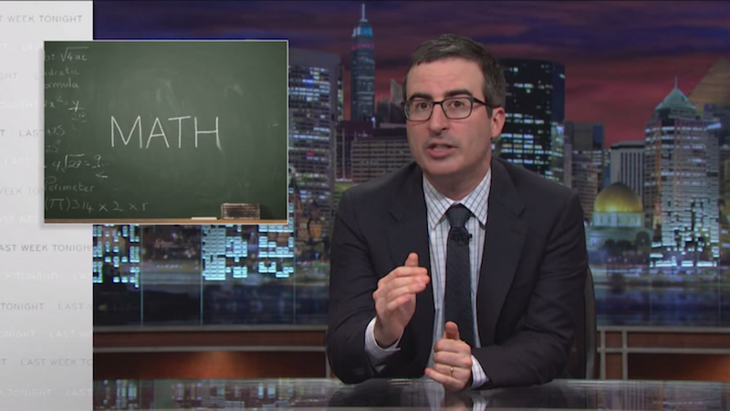 Watch John Oliver teach all 12 years of school in four minutes.