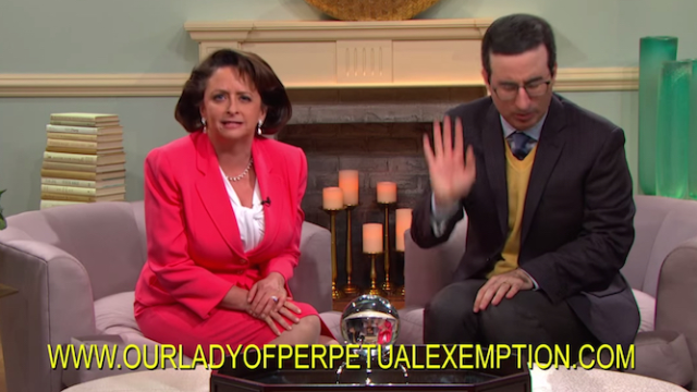 Televangelists made John Oliver so GD angry he started his own church to expose them.
