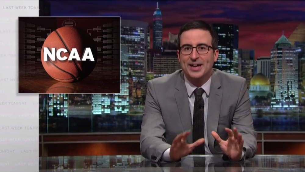 John Oliver's takedown of the NCAA unpaid athletes program will give you true March Madness.