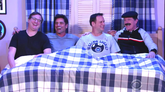 Stamos, Saget, and Coulier made a gritty 'Full House' reboot where the daddies fight crime.