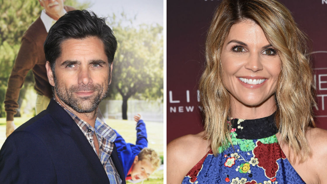 John Stamos weighs in on how 'Fuller House' will handle Aunt Becky leaving for prison.