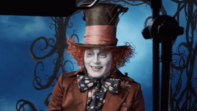 Johnny Depp pranks Disneyland visitors while dressed as the creepiest of his many creepy characters.