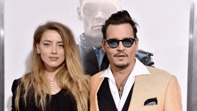 Johnny Depp partied until 4 am last night, but also remember that Amber Heard smiled once, so.