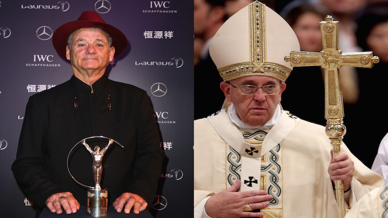 The pope and Bill Murray are holding a joke contest to save the world, and anyone can enter.
