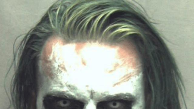 Sword-wielding Joker has the most terrifying mugshot of all time.