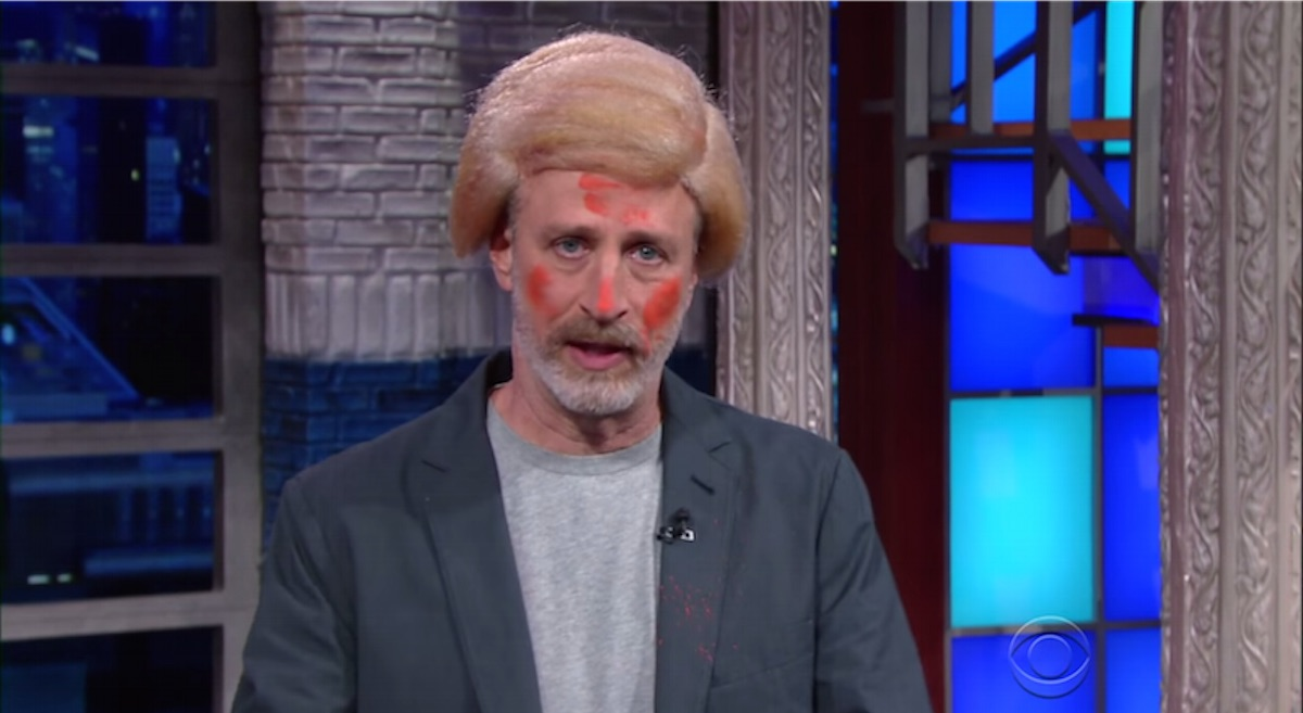 Jon Stewart crashed Colbert's monologue last night, maybe because he misses you.