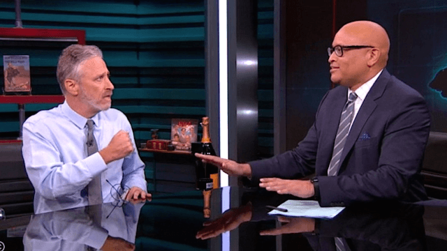 Jon Stewart dropped by 'The Nightly Show' to wish Larry Wilmore an extremely touching farewell.
