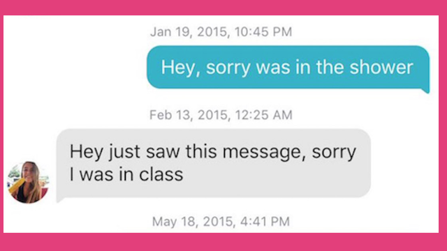 Two strangers have been carrying on a hysterical Tinder conversation for years. They're both very busy.