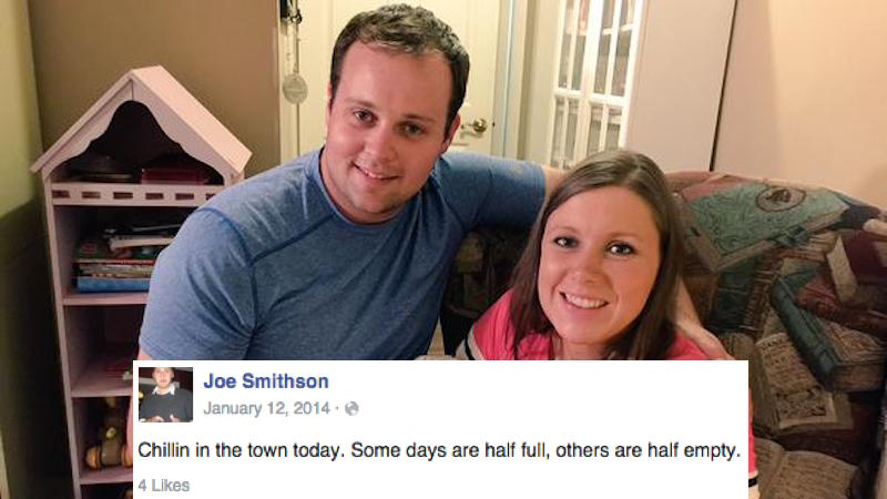 Somebody found Josh Duggar's fake Facebook profile he used for cheating. The man had a system.