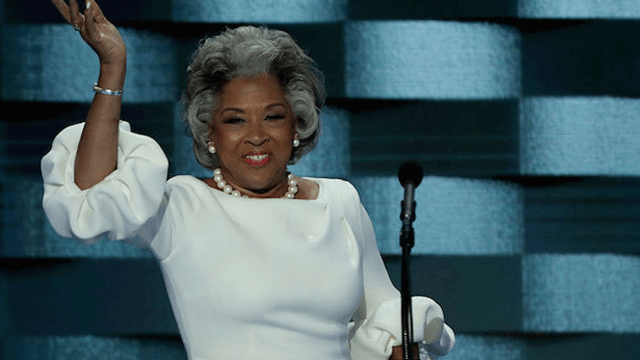 Congresswoman Joyce Beatty used her outfit to throw subtle shade on Melania Trump at the DNC.