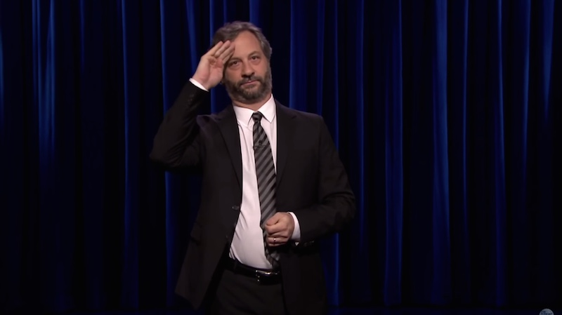 Judd Apatow's Cosby impression murdered during his 'Tonight Show' stand-up debut.