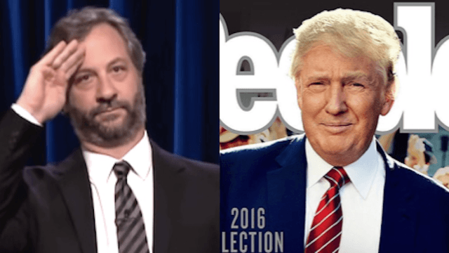 Judd Apatow blasts 'People' magazine over Trump election cover.