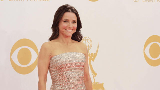 Watch Julia Louis-Dreyfus' 'Veep' costars try to psych her up for chemo. It didn't go as planned.