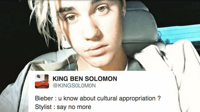 Justin Bieber accused of 'cultural appropriation' and probably 'wearing straw on his head' over new dreadlocks.