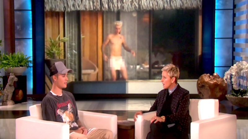 Justin Bieber told Ellen what he thought of his penis photo and was surprisingly chill.