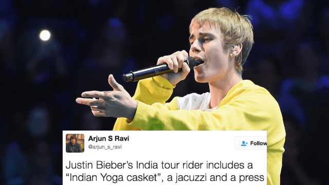 Justin Bieber's list of touring 'demands' was leaked and it's even crazier than you imagined.