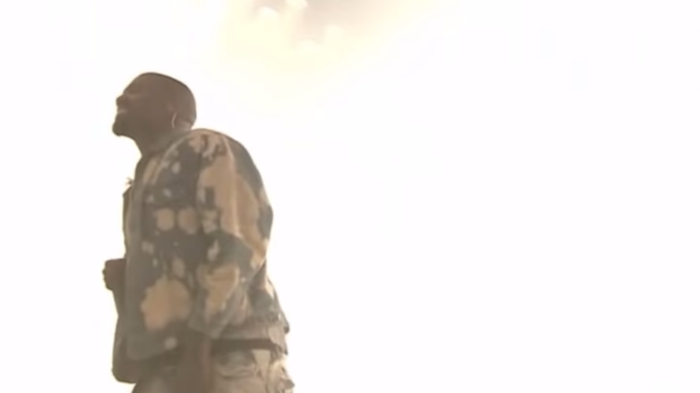 Kanye West covers Bohemian Rhapsody at British music festival.