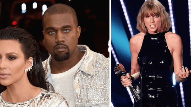 Kanye West interrupts Drake concert to reignite feud with Taylor Swift.