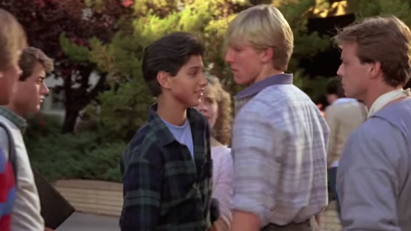 Viral video reveals 'The Karate Kid' is secretly about a violent sociopath trained by a demon-sorceror.