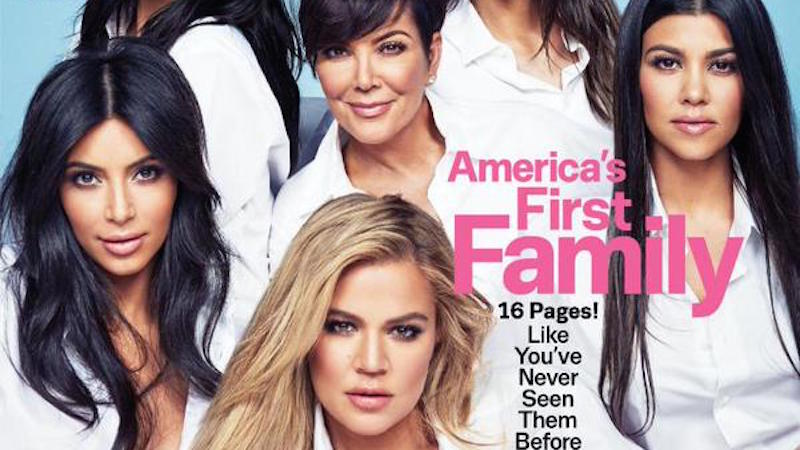 People are pissed that Cosmopolitan called the Kardashians 'America's First Family.'
