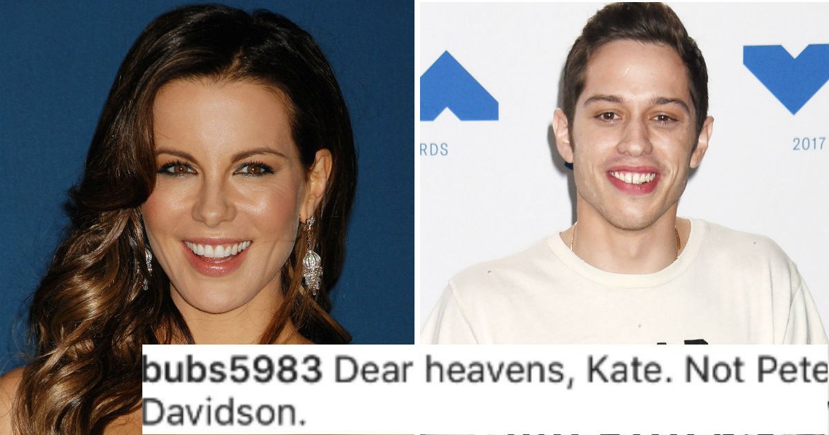Kate Beckinsale hilariously responded to rumors she's seeing Pete Davidson.