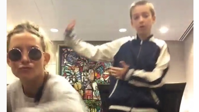Kate Hudson dances to Trap Queen with her son, proves airports are fun if you're rich and famous.