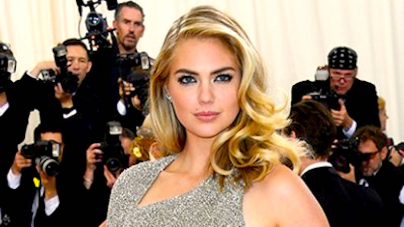 Kate Upton is engaged to Justin Verlander, could barely lift her left hand at the Met Gala.